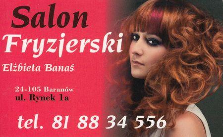 Salon Fryzjerski Elżbieta Banaś Gmina Baranów