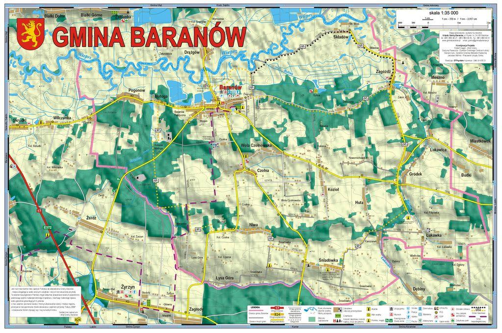 Mapa Gminy Gmina Baranów